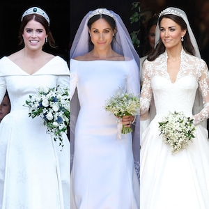 Princess Eugenie, Meghan Markle, Kate Middleton, Wedding Dresses