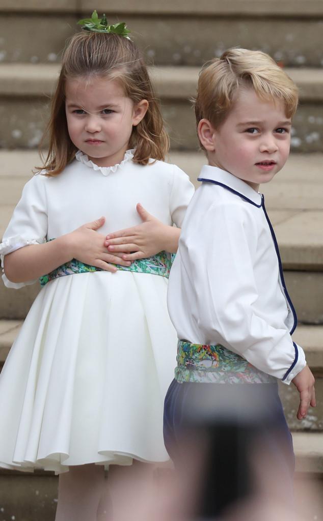 Princess Charlotte, Prince George, Princess Eugenie Royal Wedding