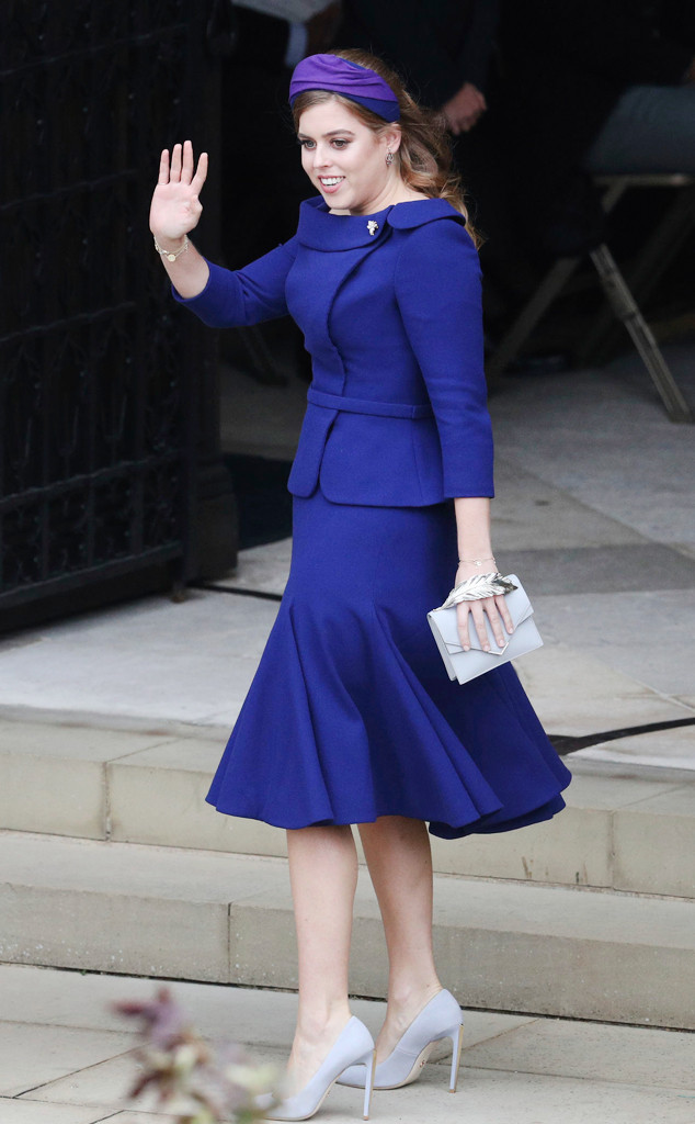 Here S What Princess Beatrice Wore To Sister Princess Eugenie S Royal Wedding E Online