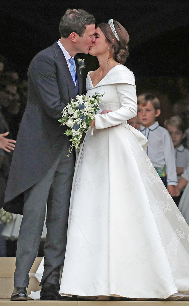 Kiss, Princess Eugenie, Jack Brooksbank, Princess Eugenie Royal Wedding