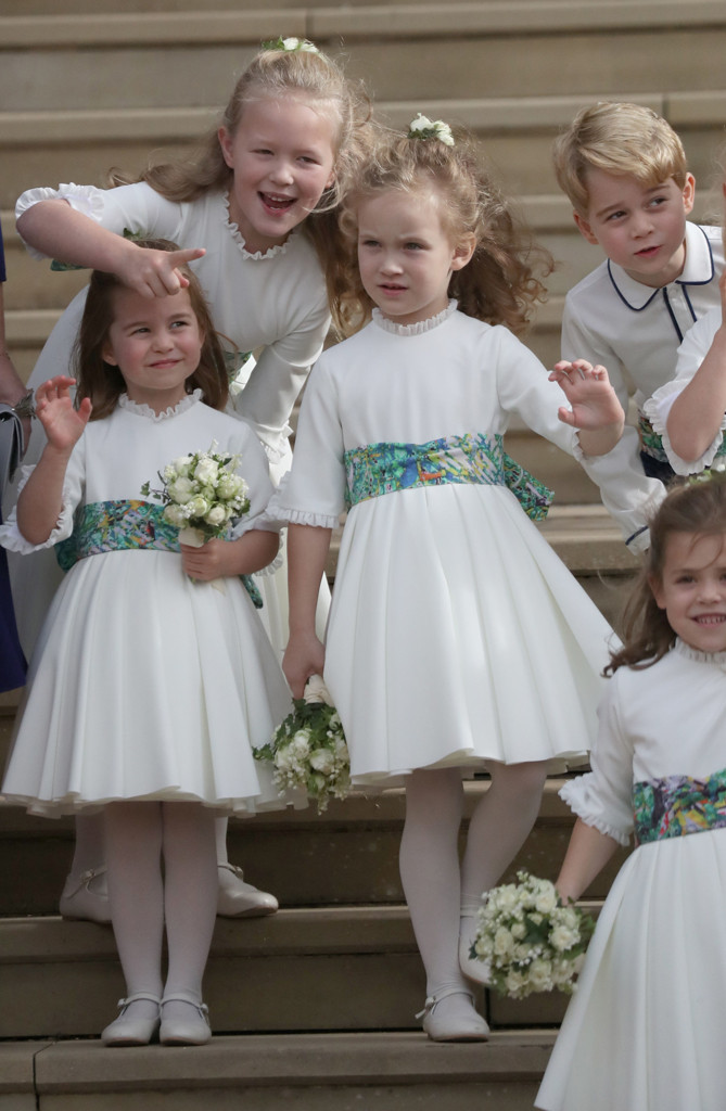 Princess Charlotte, Prince George, Savannah, Bridesmaids, Princess Eugenie Royal Wedding