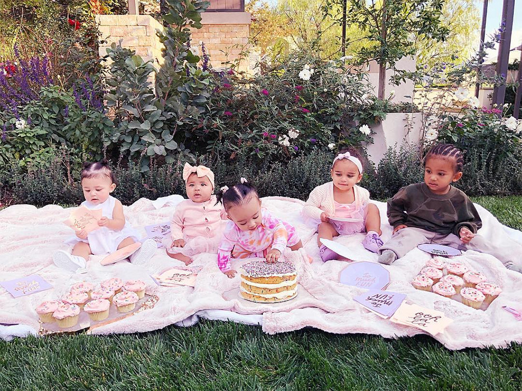 Stormi Webster, True Thompson, Chicago West, Dream Kardashian, Saint West