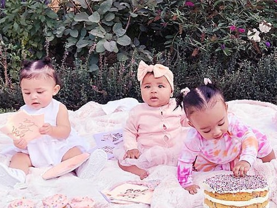True Thompson Is An Adorable Unicorn at Another Kardashian Cousin Cupcake Party