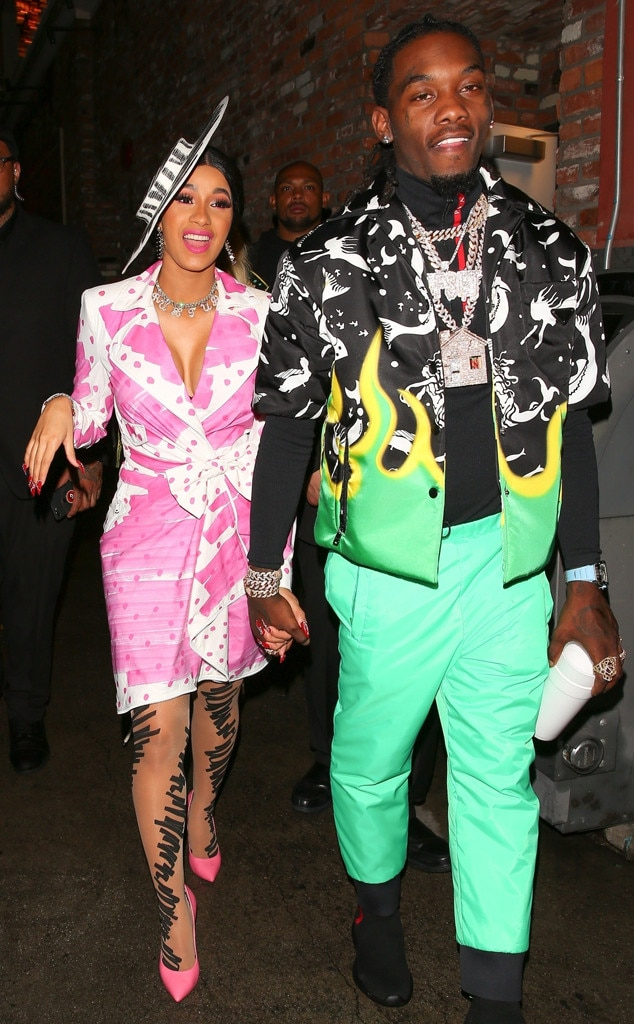 Is Cardi B S Offset Name Tattoo Real The Ink Is A Giant: All Smiles From Cardi B And Offset: Romance Rewind