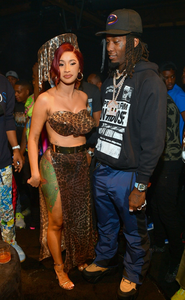 Cardi B Reveals Huge Offset Tattoo Of Husband S Name On: Cardi B & Offset From The Big Picture: Today's Hot Photos