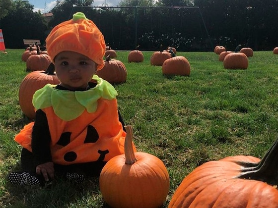 True Thompson Gets Festive and Dresses Up as a Pumpkin Before Her First Halloween