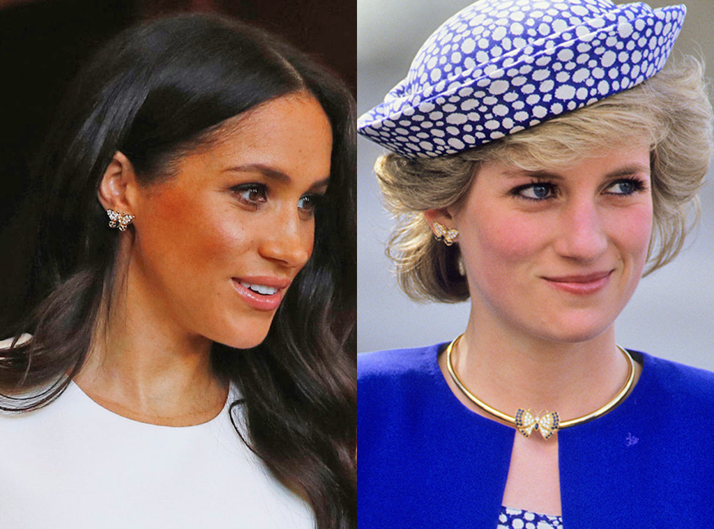 Meghan Markle, Princess Diana, Butterfly Earrings