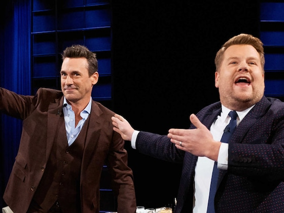"James Corden Asks Jon Hamm How Big His ""Hammaconda"" Is"