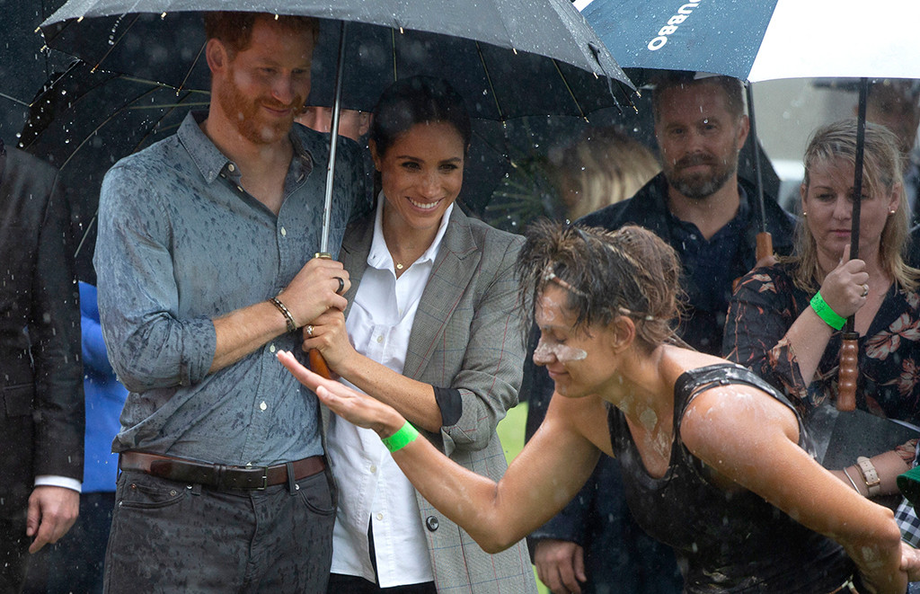 Meghan Markle, Prince Harry, Rain
