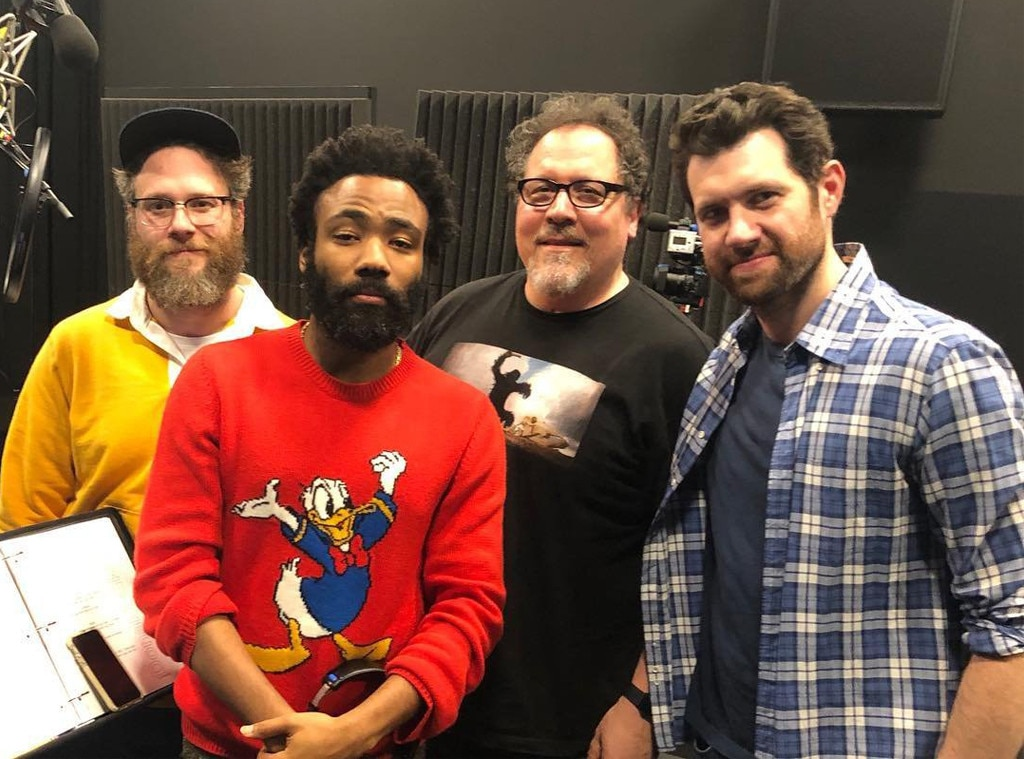 Donald Glover & Seth Rogen Pictured During