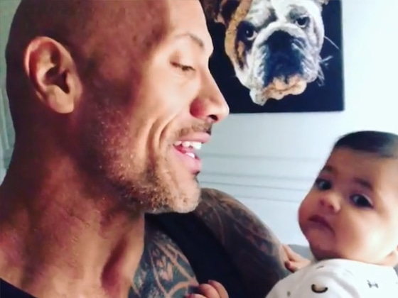 Dwayne Johnson Sings to Baby Tiana to Celebrate Her 6-Month Birthday