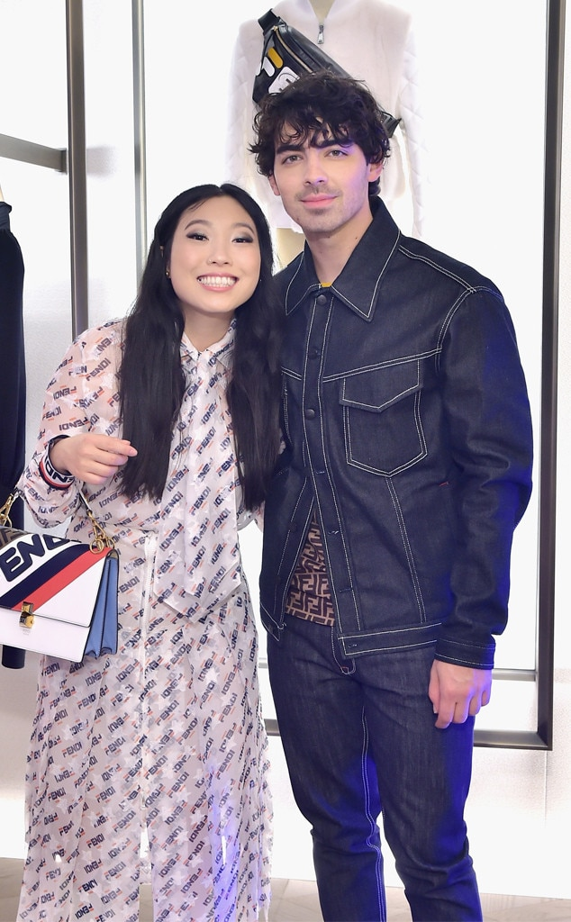 Awkwafina & Joe Jonas -  Flourished in Fendi! The  Crazy Rich Asians  star and DNCE lead member attend the FENDI MANIA Capsule Collection in Beverly Hills.