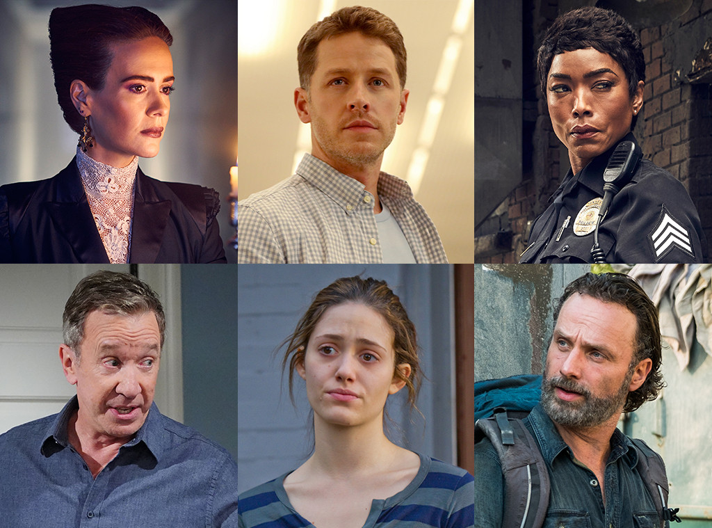 TV Split, Sarah Paulson, Josh Dallas, Angela Bassett, Tim Allen, Emmy Rossum, Andrew Lincoln