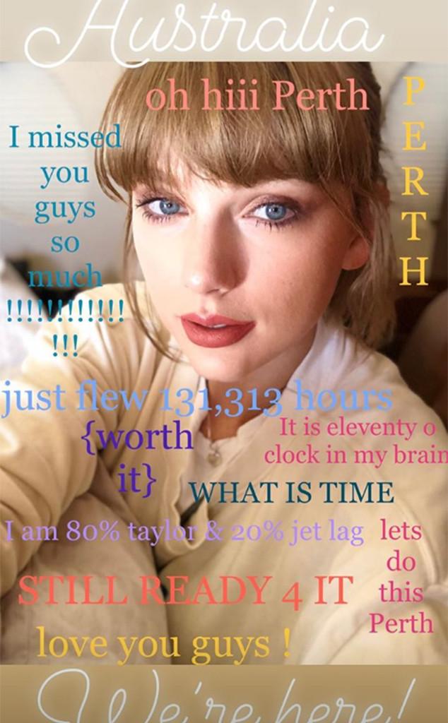 Taylor Swift, Perth, Instagram