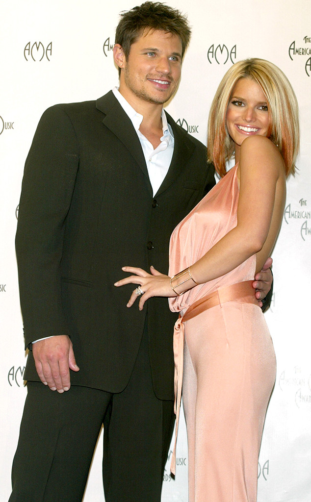 Jessica Simpson, Nick Lachey, 2003 Annual American Music Awards