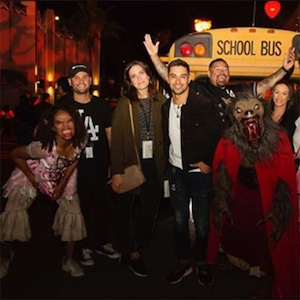 Mandy Moore, Wilmer Valderrama, Universal Studios Hollywood Halloween Horror Night, 2018