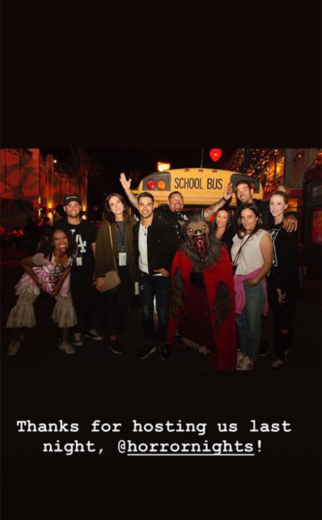 Mandy Moore, Wilmer Valderrama, Universal Studios Hollywood Halloween Horror Night, 2018