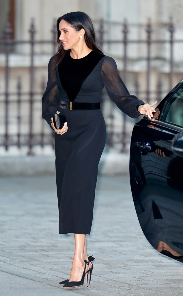 She'll Take It From Here -  In September, Meghan attended her  first solo engagement  as a royal, visiting the opening of the new Oceania art exhibit at the Royal Academy of Arts in London.  She was driven by a chauffeur and when she arrived, a man opened her car door for her.