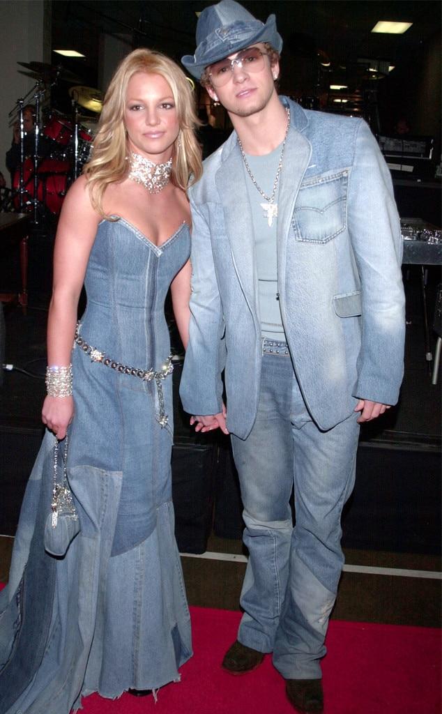 Britney Spears, Justin Timberlake, 2001 American Music Awards, denim