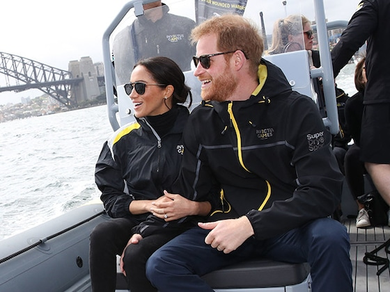 Pregnant Meghan Markle Is All Smiles With Prince Harry at Sailing Event After Cutting Tour Schedule