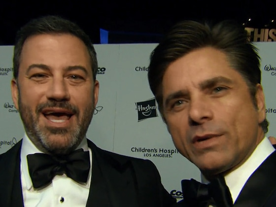 John Stamos Pokes Fun at Jimmy Kimmel When He Learns He's a People's Choice Awards Finalist