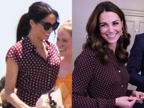 Meghan Markle sigue el ejemplo fashionista de Kate Middleton ¡Mírala!
