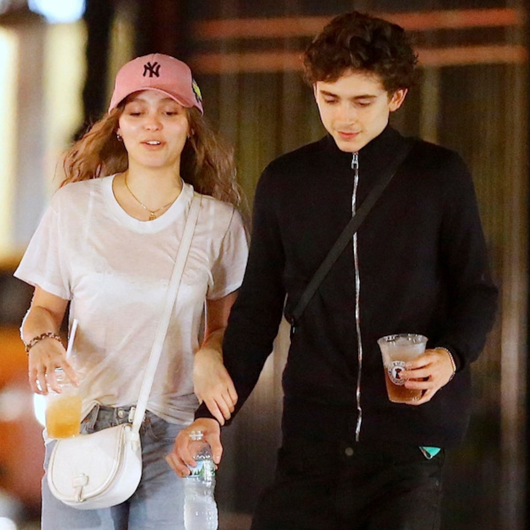 Timothee Chalamet Lily Rose Depp Confirm Romance With A Kiss E Online