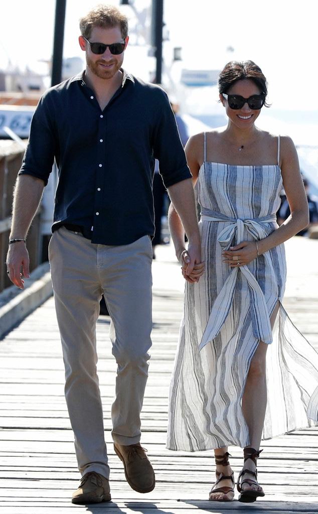 Prince Harry, Meghan Markle, Baby Bump Cradle