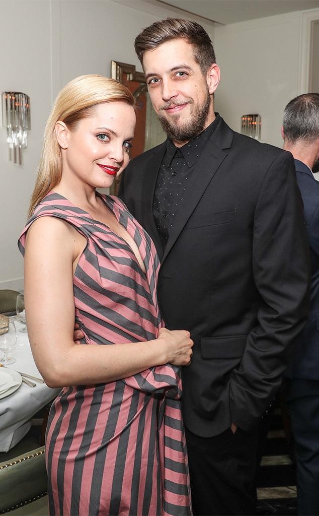 Mena Suvari with nice, Husband Michael Hope