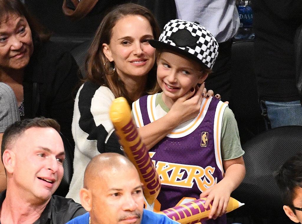 Natalie Portman, Aleph Portman-Millepied, Lakers Game