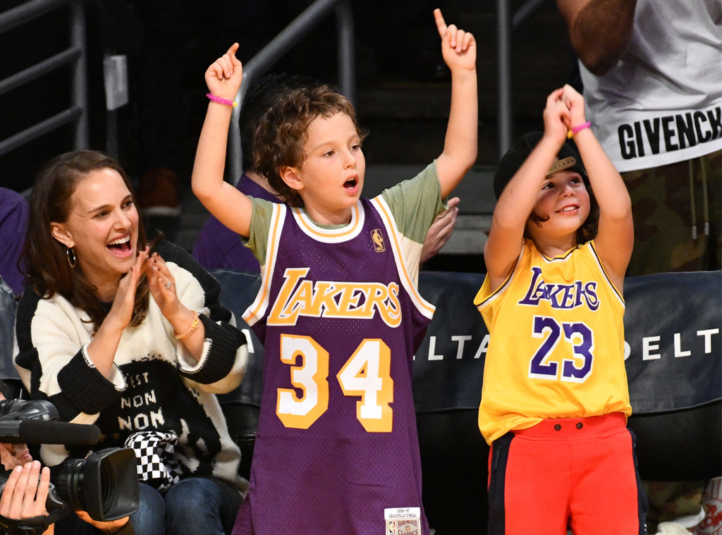 Natalie Portman, Aleph Portman-Millepied, Friend, Lakers Game