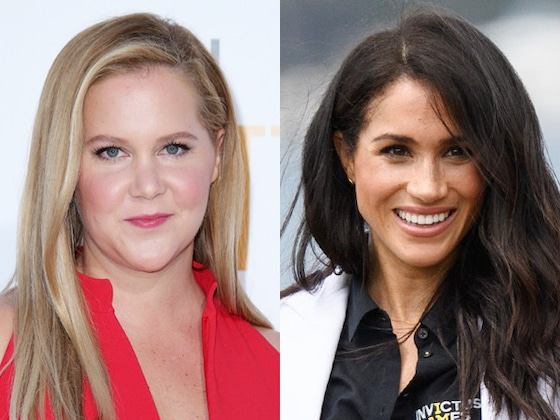Amy Schumer Keeps Comparing Her Pregnancy to Meghan Markle's