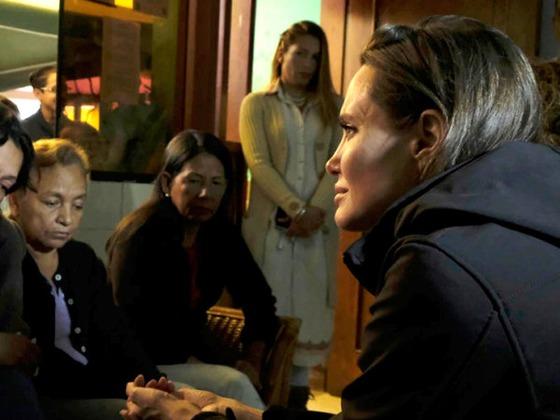 Angelina Jolie Travels to Peru to Help Displaced Venezuelan Refugees