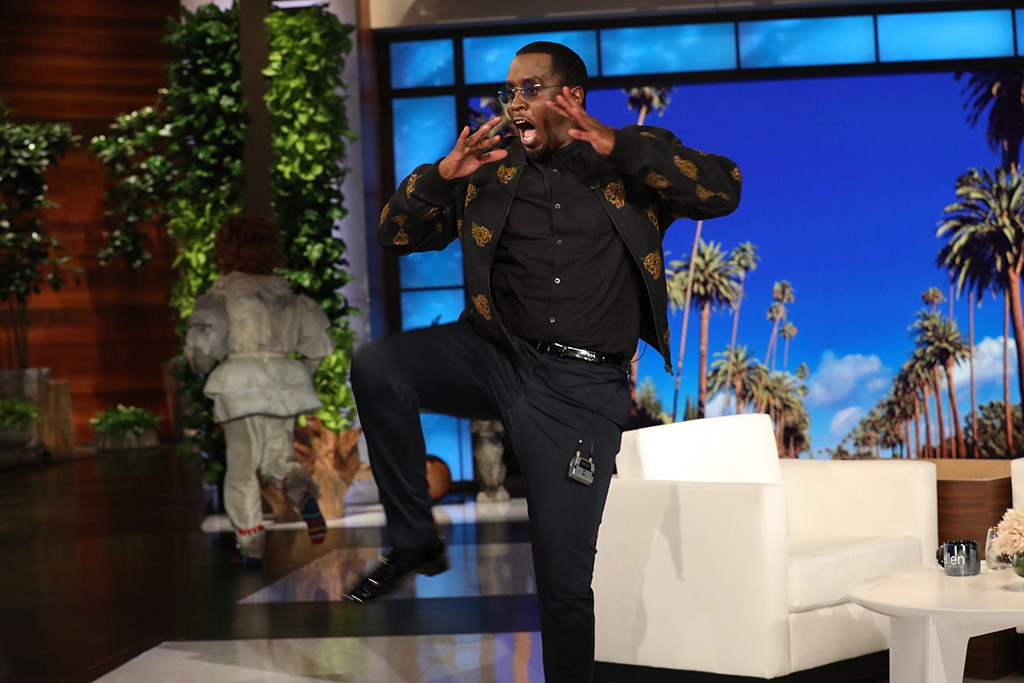 Pennywise scares the hell out of Diddy on Ellen