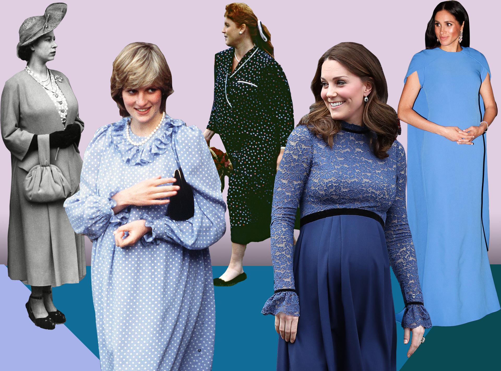 Royal Pregnancies, Queen Elizabeth II, Princess Diana, Sarah Ferguson, Kate Middleton, Meghan Markle