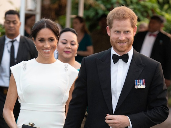 Prince Harry and Meghan Markle's Wax Figures Are Festively Freaky