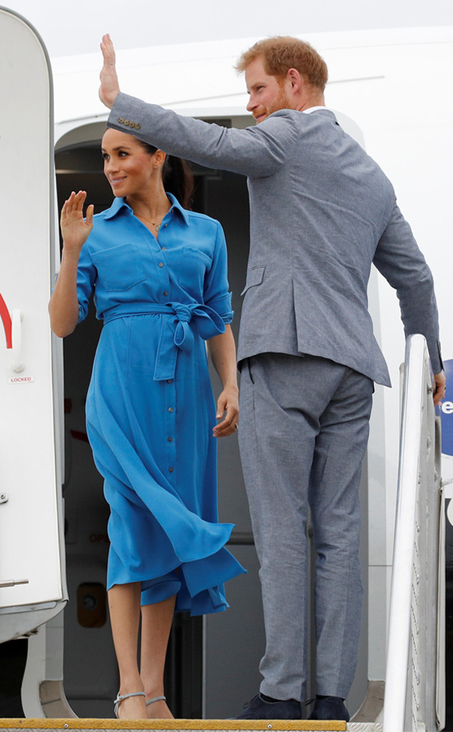 Meghan Markle, Prince Harry, Plane, Tonga Visit