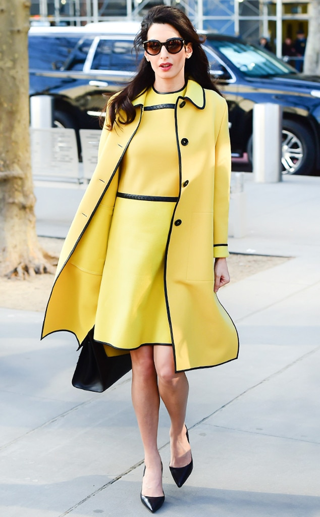 6ab485259f88 The Classic Trench from A Closer Look at Amal Clooney s  17.6K Coat ...