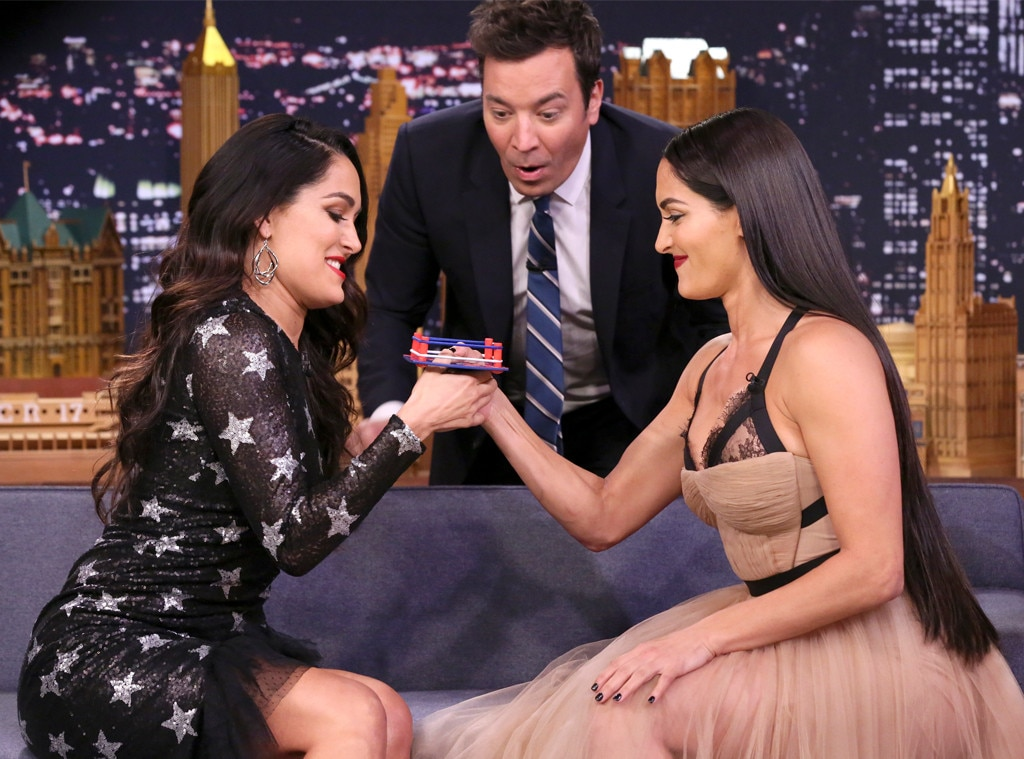 Brie Bella, Nikki Bella, The Tonight Show, Jimmy Fallon
