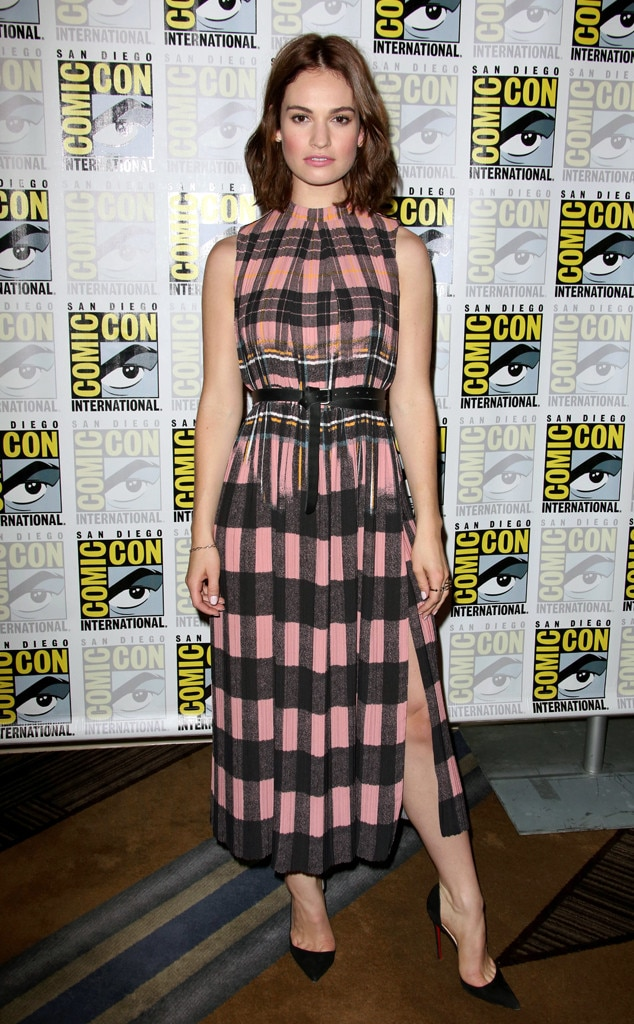 Lily James, Celebs Wearing Victoria Beckham