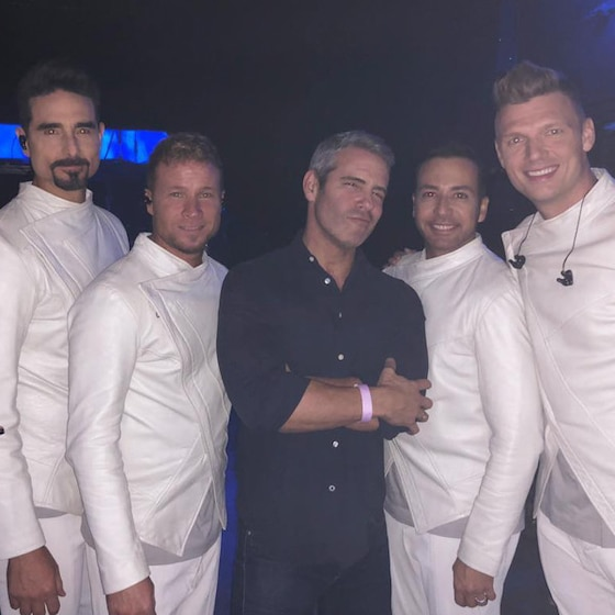 Andy Cohen Becomes the 6th Member of the Backstreet Boys During Las Vegas Concert