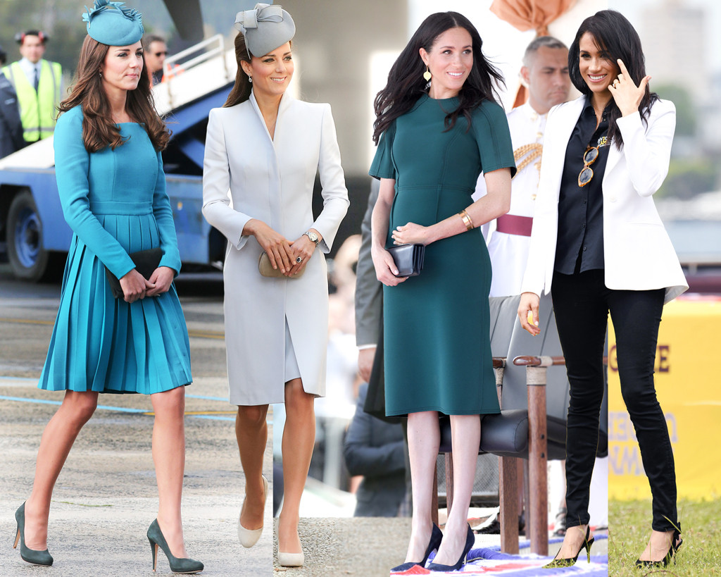 How Meghan Markle S Australian Royal Tour Style Compares To Kate