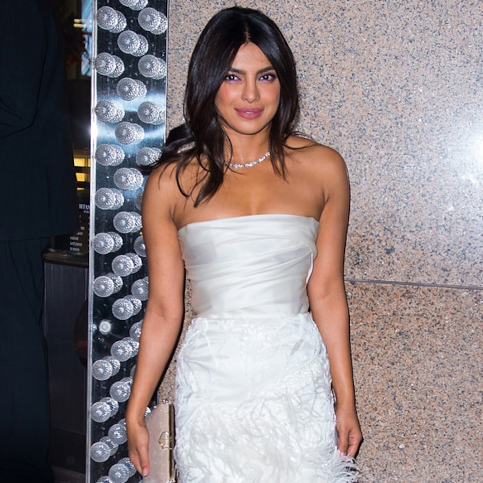 priyanka chopra basically wore a wedding dress to her bridal shower e news