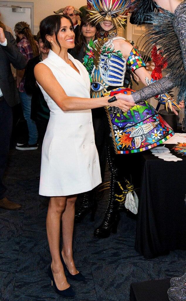 ESC: Meghan Markle, Duchess of Sussex, White Dress