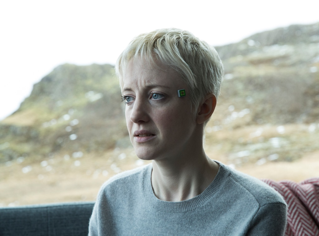 "Black Mirror , ""Crocodile"" -  Admittedly not the most traditionally frightening episodes of  Black Mirror , ""Crocodile"" really plays with fear and desperation. Viewers are never quite sure how far Mia will go to keep her secrets."
