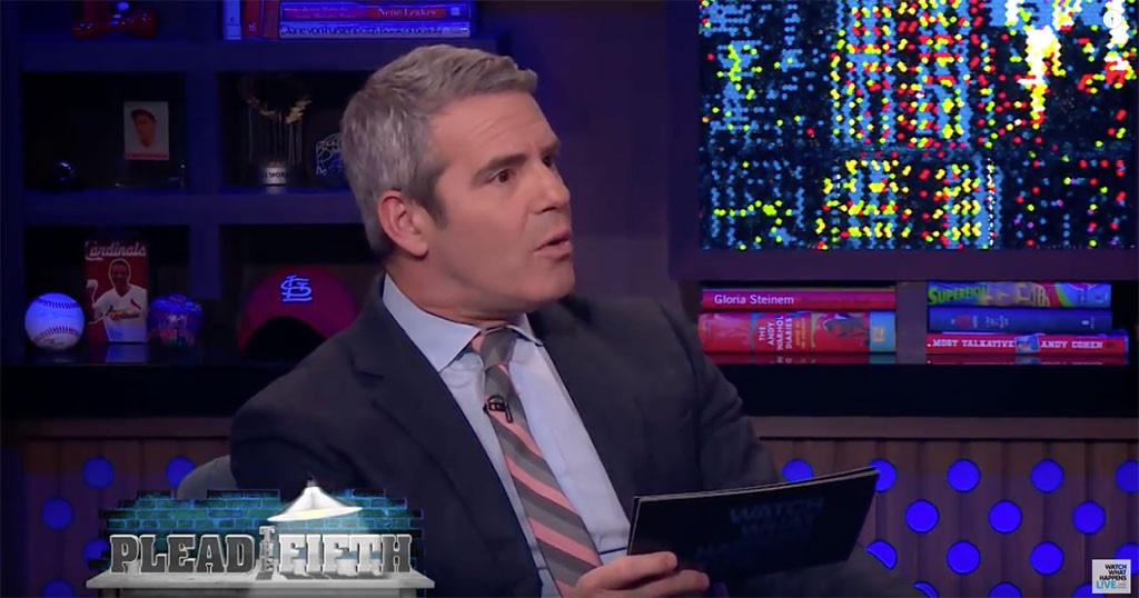 Andy Cohen, Amanda Peet, Watch What Happens Live!