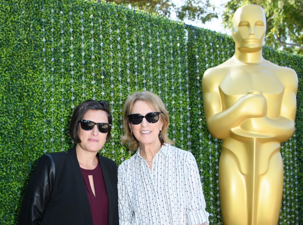 Rachel Morrison & Midge Sanford -  Morrison, the cinematographer for  Mudbound  and  Black Panther , and Sanford, an award-winning producer, joined forces for a photo-opp with the famous statue.