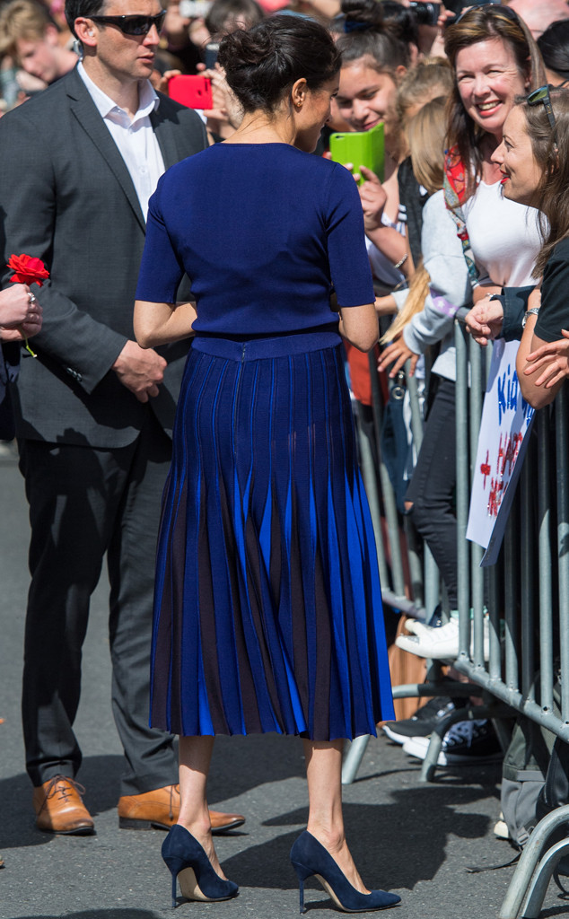Meghan Markle, See Through Skirt