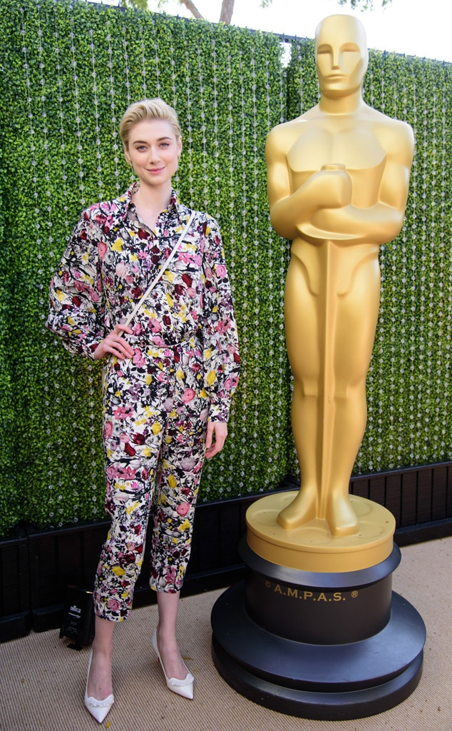 Elizabeth Debicki -  Australian native and actress from  The Great Gatsby  wore a vibrant ensemble for the female-centric luncheon.