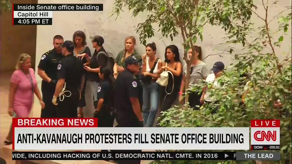 Amy Schumer, CNN, Protest